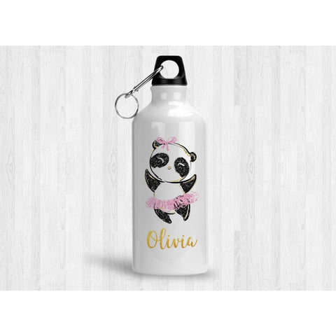 Personalized Panda Ballerina 20 oz Metal Water Bottle - Simply Crafty