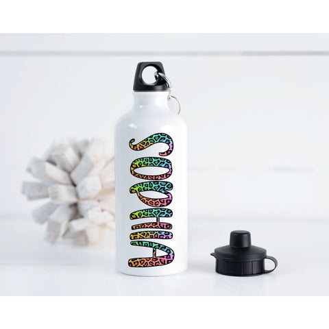 Personalized Rainbow Cheetah Girls 20 oz Metal Water Bottle - Water Bottle