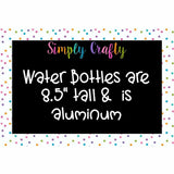Personalized Teacher Love to Teach Back to School 20 oz Aluminum Water Bottle - Simply Crafty