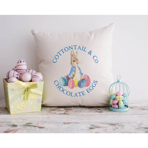 Peter Cottontail Easter Bunny Throw Pillow - Simply Crafty