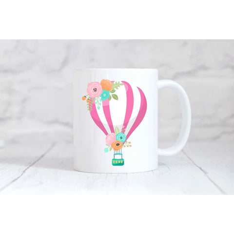 Pink Hot Air Balloon Coffee Mug - Simply Crafty