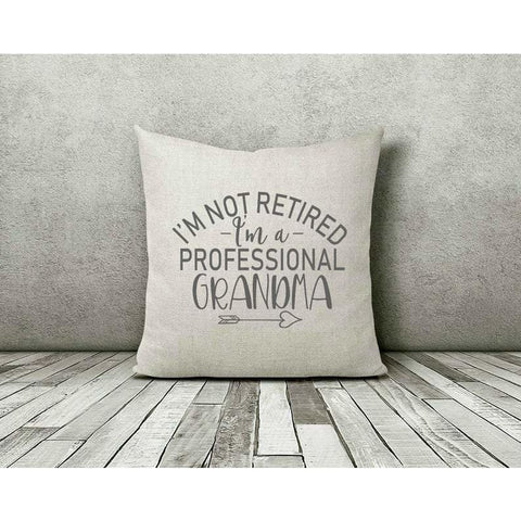 Professional Grandma Retirement Gift Throw Pillow - Simply Crafty