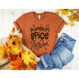 Pumpkin Spice Season Fall Womens Shirt - Simply Crafty