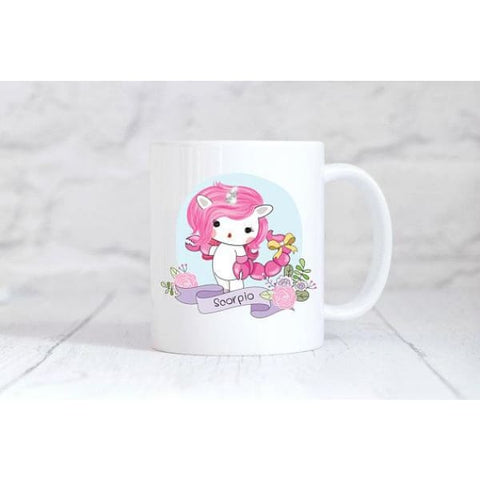 Scorpio Zodiac Unicorn Coffee Mug - Simply Crafty