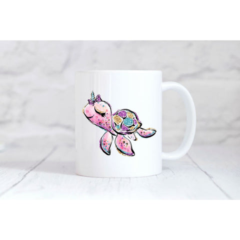 Sea Turtle Unicorn Coffee Mug - Mugs