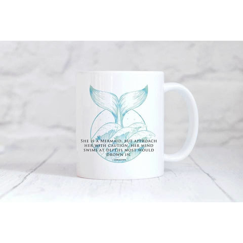 She Is A Mermaid Coffee Mug - Simply Crafty