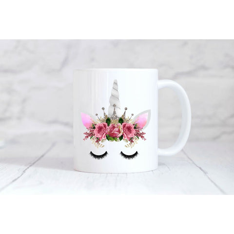 Silver Crown Unicorn Face Coffee Mug - Simply Crafty