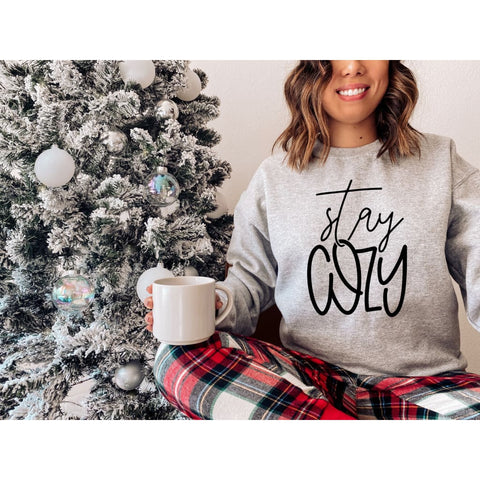 Stay Cozy Winter Sweatshirt - Simply Crafty