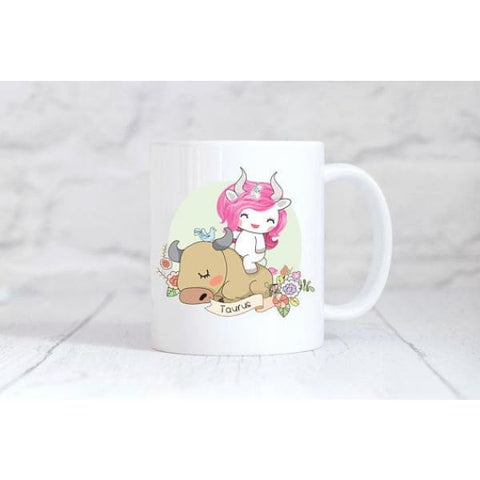 Taurus Zodiac Unicorn Coffee Mug - Simply Crafty