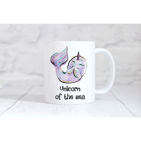 Unicorn of the Sea Narwhal Coffee Mug - Simply Crafty