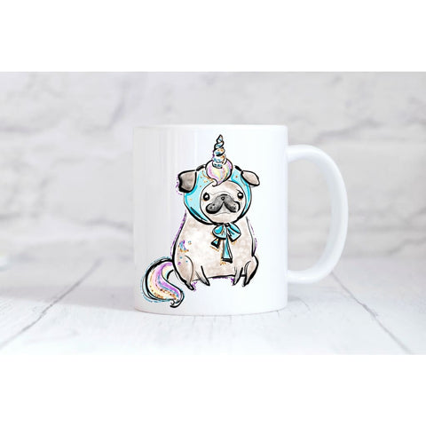 Unicorn Pug Coffee Mug - Simply Crafty