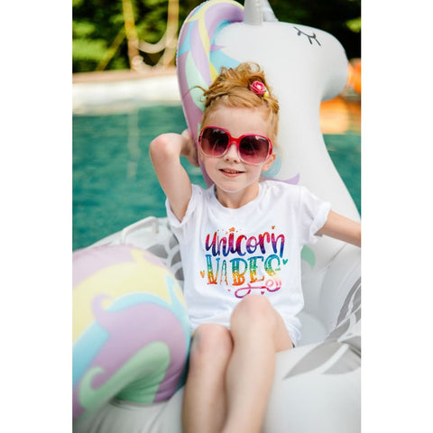 Unicorn Vibes White Shirt - Simply Crafty