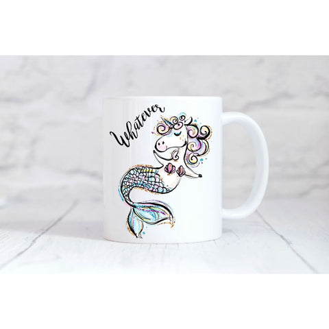 Whatever Unicorn Mermaid Coffee Mug - Simply Crafty