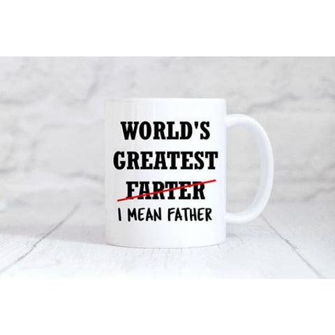 Worlds Greatest Farter Coffee Mug - Simply Crafty