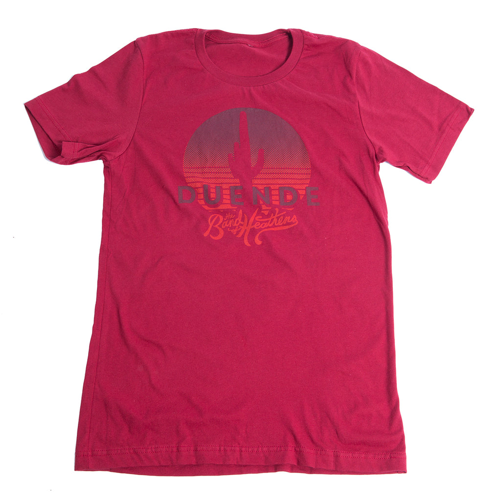 Men's Red Duende T-Shirt (Orange Logo)