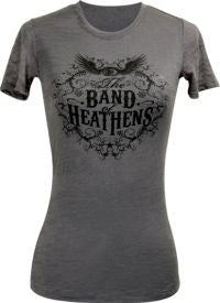 Ladies Grey Burnout T-Shirt