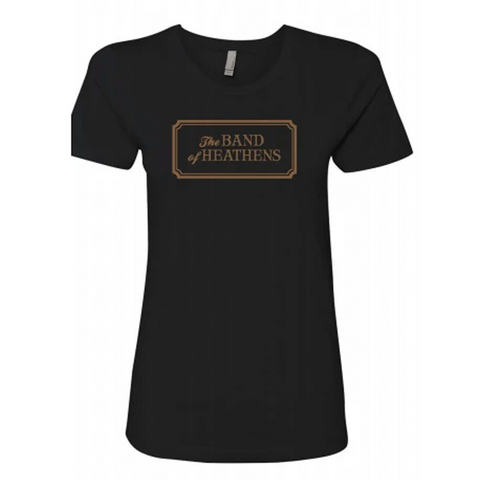 The Band of Heathens Black Ladies Tee
