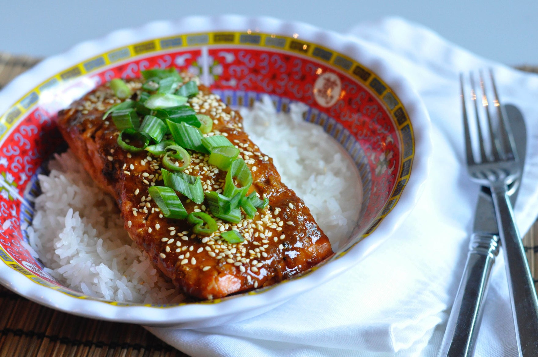 Hot Honey and Sriracha Salmon