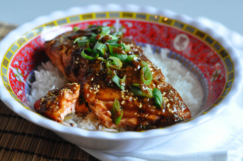Hot Honey & Sriracha Salmon - Couple in the Kitchen - Seaforth Fish Company