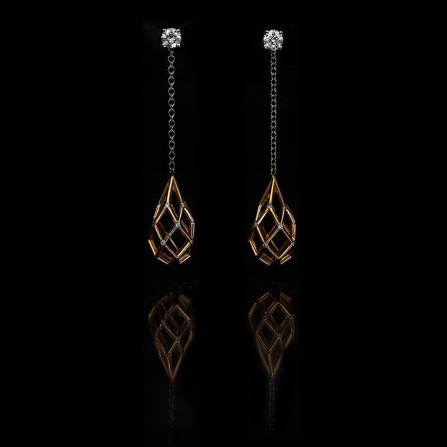 Birdcage Briolette Drop Earrings