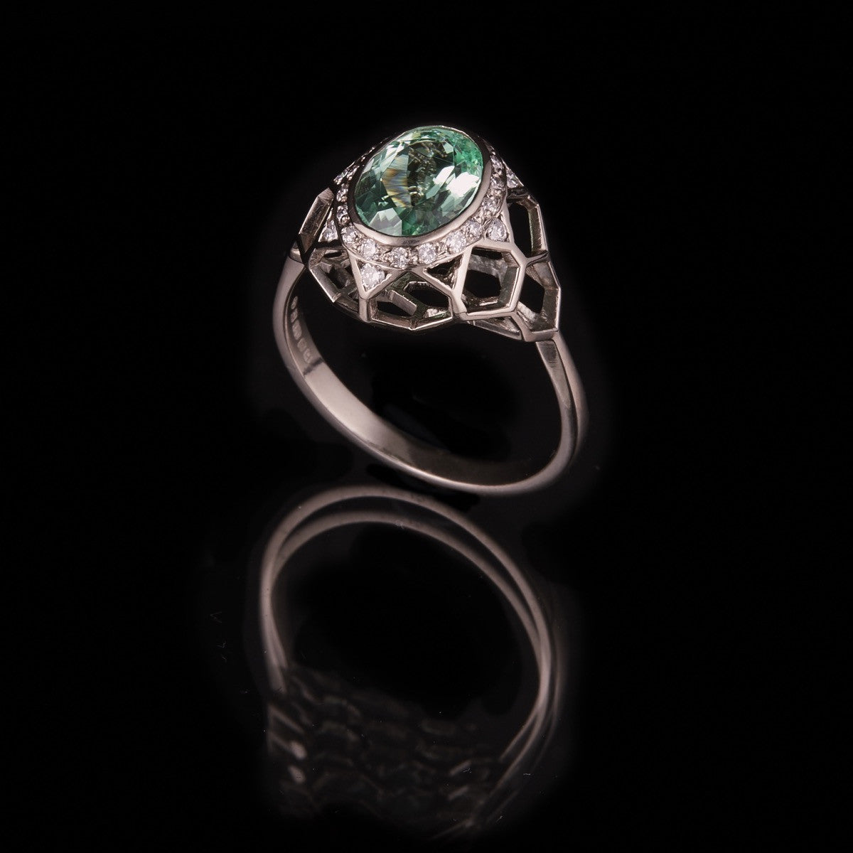 Honeycomb Paraiba Ring