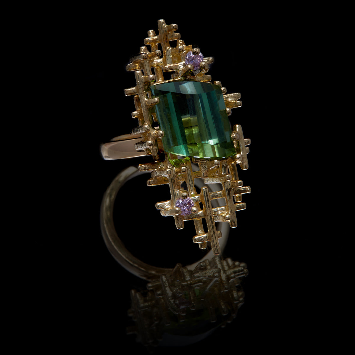 Algorithm Tourmaline Cocktail Ring