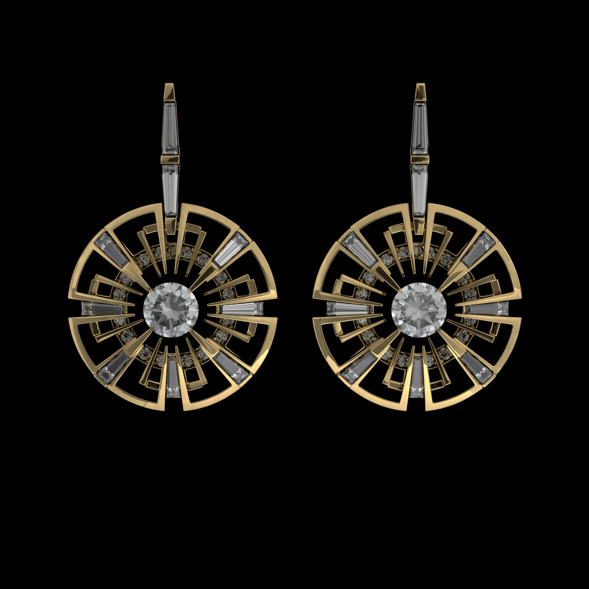 360 Degree Earrings