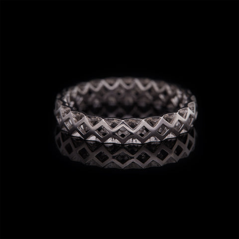 GUY&MAX 4mm birdcage mesh plain wedding band - main image