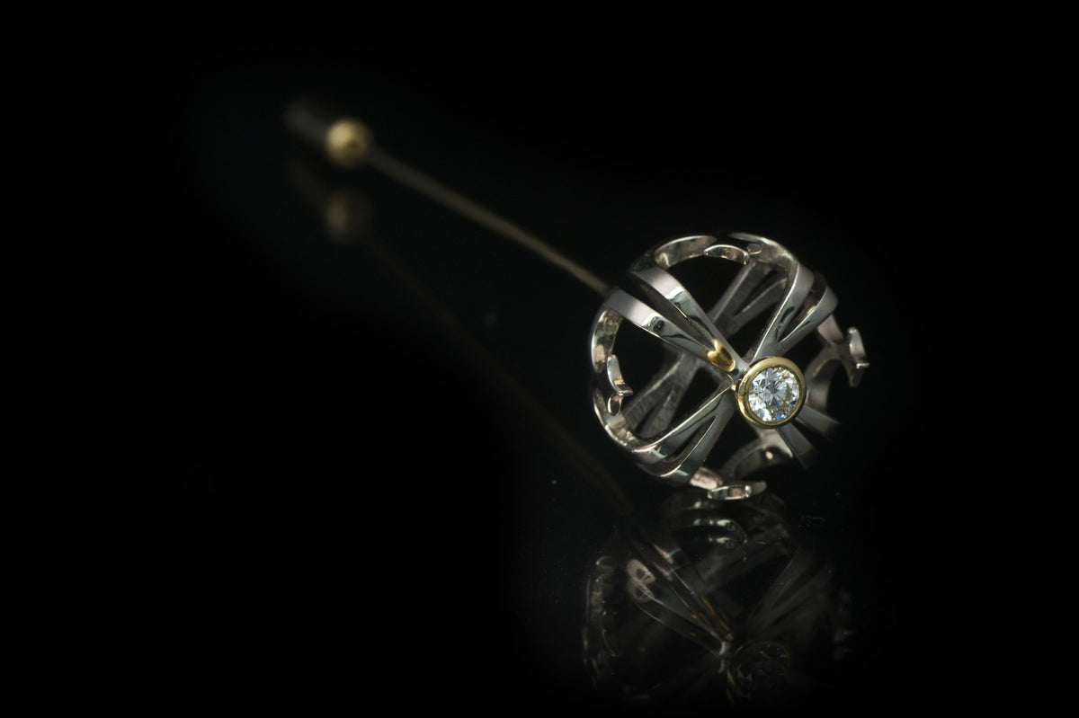 Vintage Crown Hat-Pin