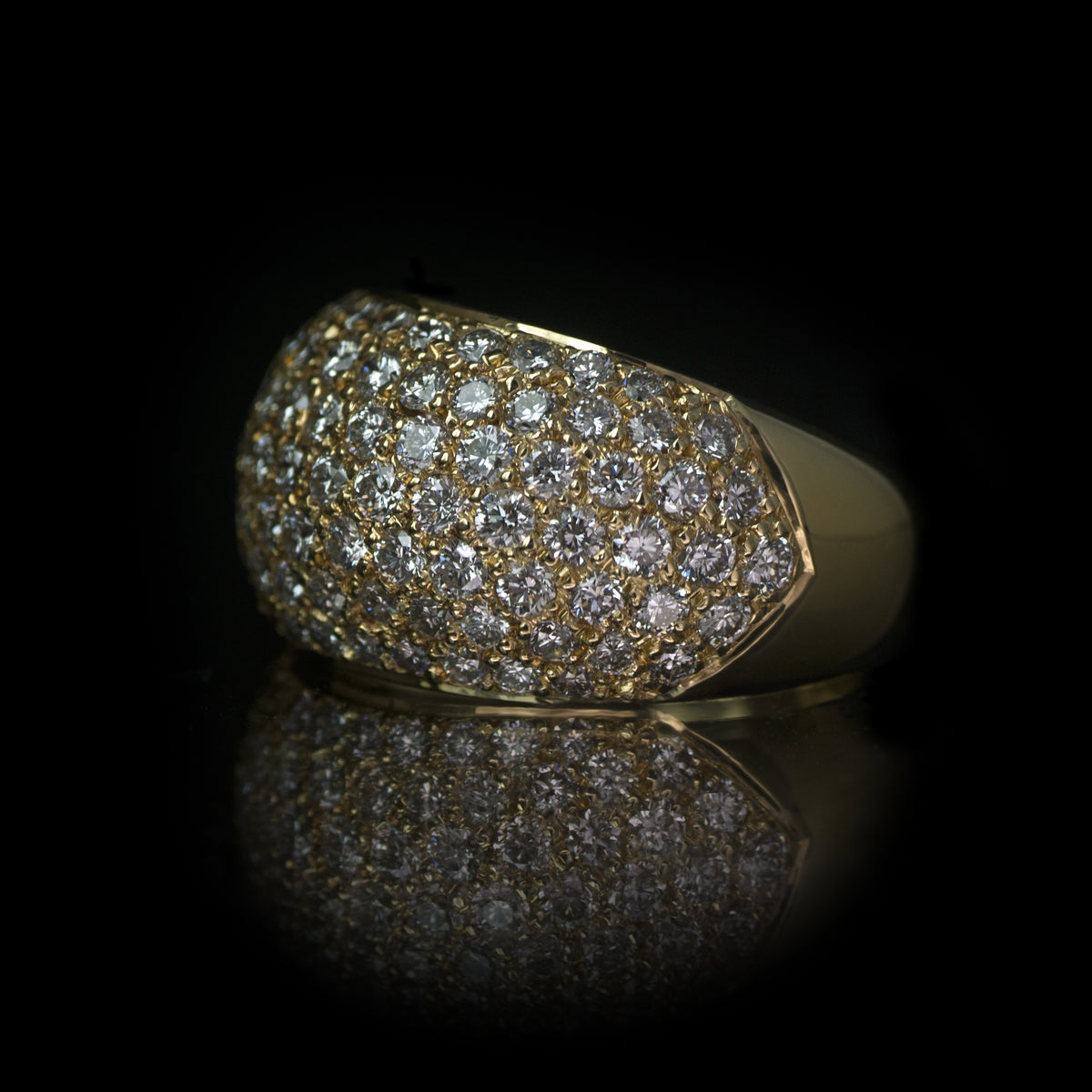 Yellow Gold Bombee Ring