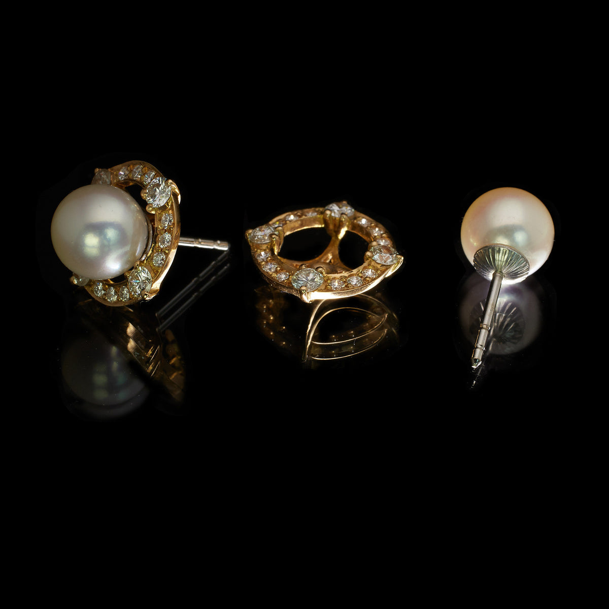 Vintage Cluster Pearl Earrings