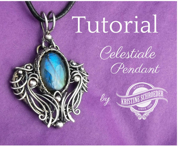 image of Celestiale Wire Pendant Tutorial for jewelry makers