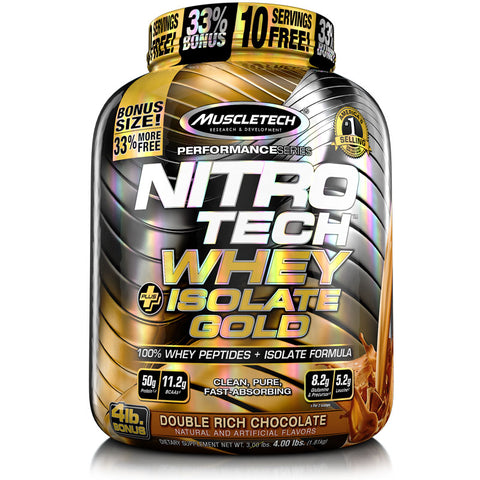 NITRO-TECH WHEY PLUS ISOLATE GOLD - 4 lb.