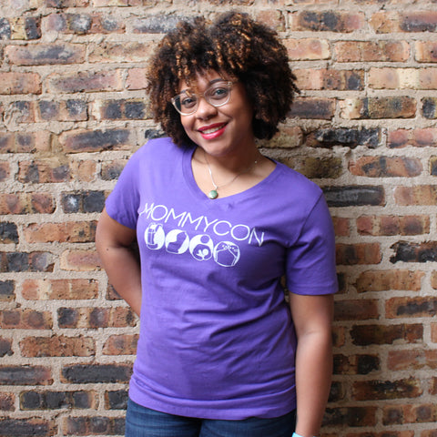 Icons of Natural Parenting MommyCon Purple Women's Shirt