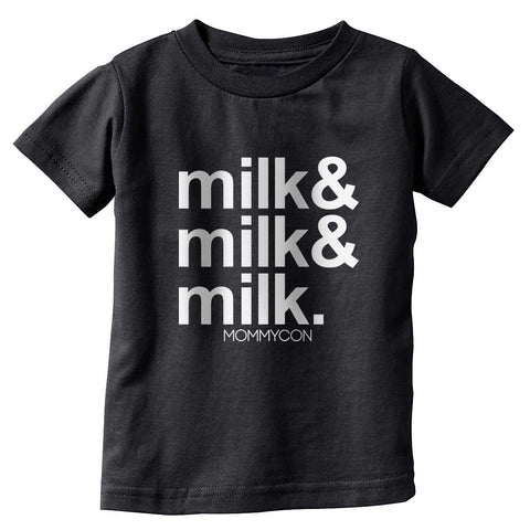 MILK MILK & MILK Black Children's Shirt