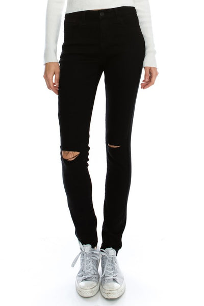 Blackest Black Distressed Skinnies