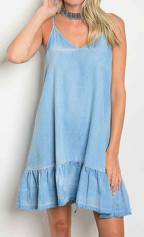 August Chambray Dress