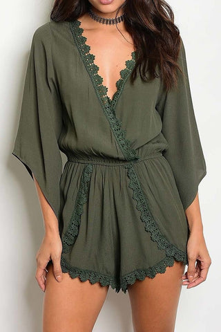 Olive & Lace Romper