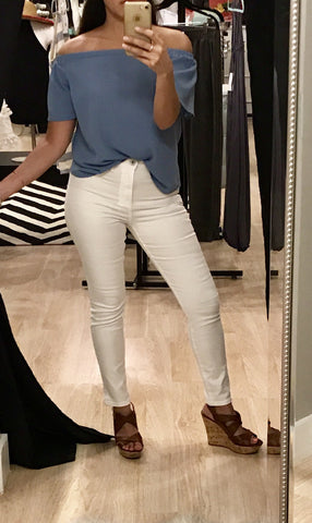 High-Rise White Jeggings