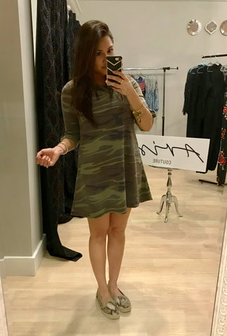 Casual Camo Trapeeze Dress