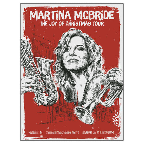 Autographed The Joy Of Christmas Tour Nashville Poster