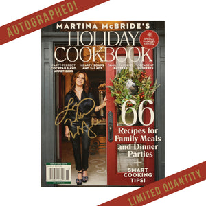 Autographed Holiday Cookbook Magazine