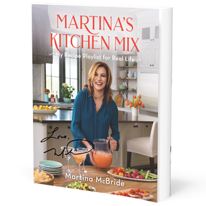 Autographed Martina's Kitchen Mix Cookbook