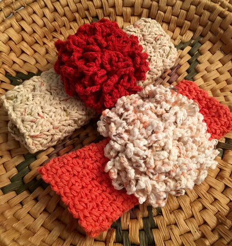 100% Cotton Washcloth & Scrubie Gift Set