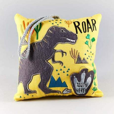 Floss & Rock Tooth Fairy Pillow - Dinosaur