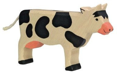 Holztiger Wooden Black & White Cow