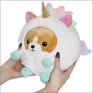 "Squishable Mini - Undercover Corgi in Unicorn - 7"" Plush"