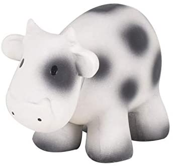 Tikiri My First Farm Natural Rubber Rattle and Bath Toy - Cow
