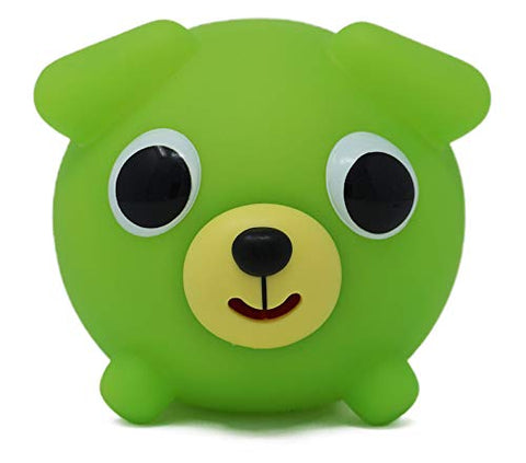 Sankyo Toys Jabber Ball Squeeze and Play Sound Ball - Neon Green Dog