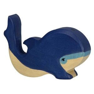 Holztiger Small Wooden Blue Whale